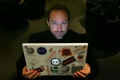 Jimmy Wales, cofundador de Wikipedia: uno de los promotores del boicot a la nueva  ley Sinde  estadounidense.