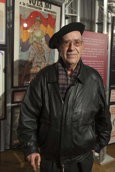 David Morin, en una muestra sobre carteles de la Transición.