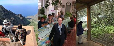Las vistas desde el mirador de Arure, en La Gomera; el restaurante Casa Efigenia, y el centro de información Laguna Grande, en el parque nacional de Garajonay.