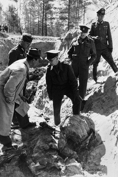 Imagen captada en Katyn, en 1952.