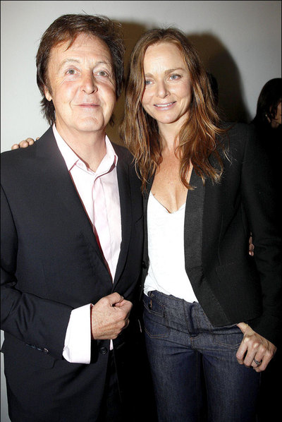 Stella con su padre, el  beatle  Paul McCartney.