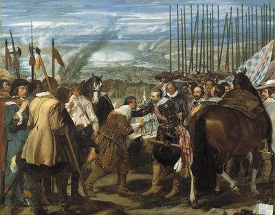 La rendición de Breda , de Velázquez, reproduce un episodio clave en la larga guerra para impedir   la independencia de los Países Bajos