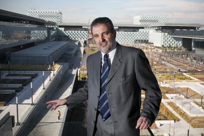 Luis Miguel Gilpérez, presidente de Telefónica España, posa en la sede de la compañía en Madrid.