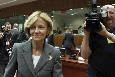 Elena Salgado, en Bruselas.