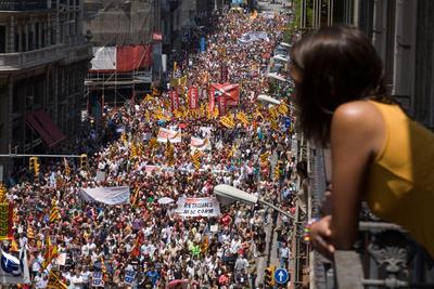 Los sindicatos catalanes arrastran el malestar de los empleados públicos a la calle