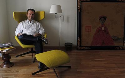 El fundador de Idealista.com, en su casa en la calle Los Madrazos de Madrid