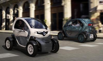 Dos modelos del Twizy en una imagen proporcionada por Renault.