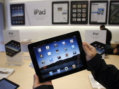 La tableta iPad de Apple.
