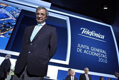 Alierta, en la junta de accionistas de Telefónica del pasado año.