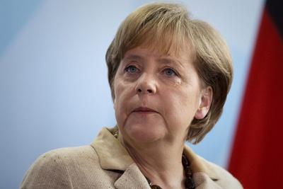 La canciller alemana, Angela Merkel, en una comparecencia ante la prensa.