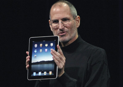Jobs, durante la presentación del iPad el pasado año.