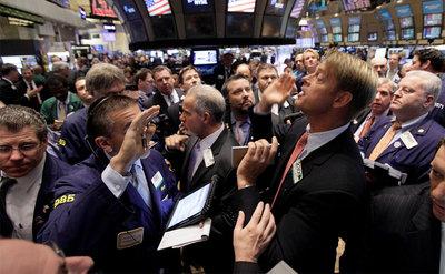 La Bolsa de Nueva York, durante la sesión de ayer