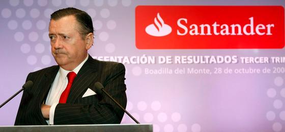El consejero delegado del Grupo Santander, Alfredo Sáenz, en una imagen datada en octubre de 2008.
