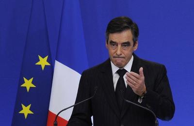 El primer ministro francés, François Fillon, durante la presentación ante los medios de las nuevas medidas de ajuste.