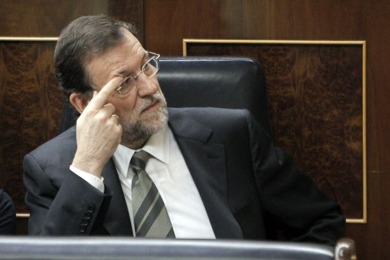 El presidente del Gobierno, Mariano Rajoy, en el Congreso de los Diputados