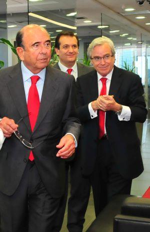 Fotografía de archivo de Emilio Botín, presidente del banco Santander, y Francisco Luzón, consejero