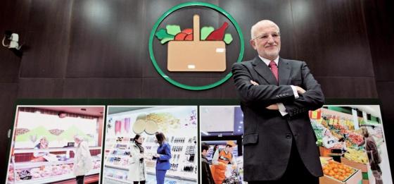 El presidente de Mercadona, Juan Roig, durante la presentación este miércoles de los resultados de la compañía en 2011.