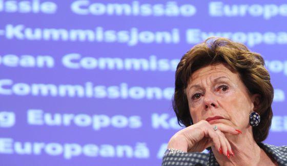Neelie Kroes, excomisaria europea de Competencia.