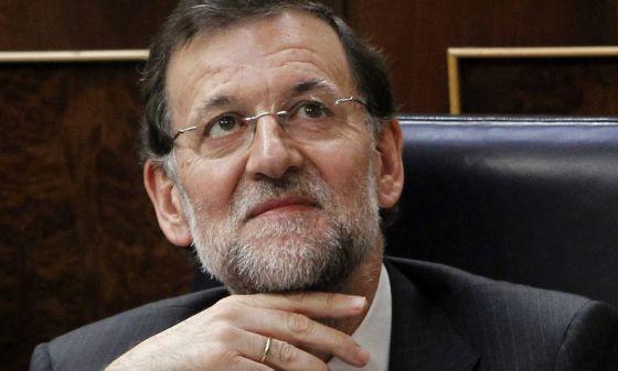 El presidente Mariano Rajoy en el Congreso.