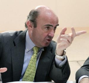 El ministro de Economía y Competitividad, Luis de Guindos, durante su participación en el Foro ABC.