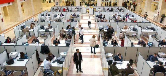 Oficina de la Delegación de Hacienda en Madrid.