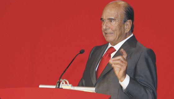 El presidente del Banco Santander, Emilio Botín.