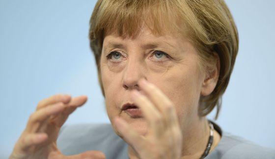 La canciller, Angela Merkel, este miércoles en Berlín.