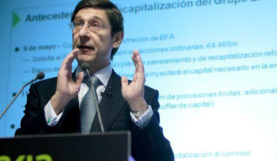 El presidente de BFA y Bankia, Jose Ignacio Goirigolzarri.