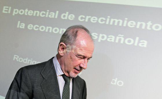 El expresidente de Bankia Rodrigo Rato, en la conferencia pronunciada el viernes en Valencia.