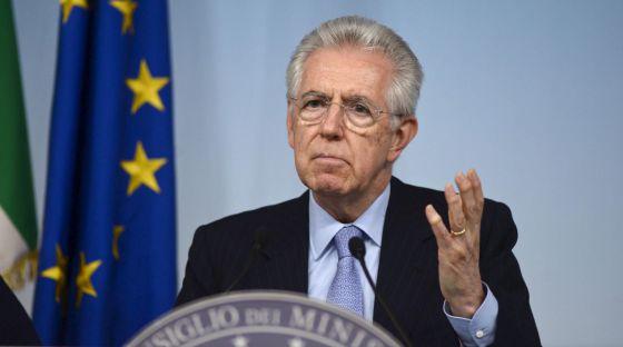 El primer ministro italiano, Mario Monti.