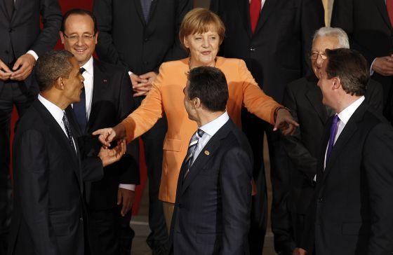 Angela Merkel, durante la reciente cumbre de la OTAN en Chicago.