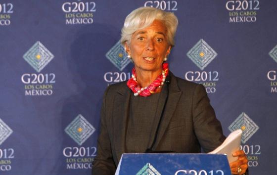 Christine Legarde, presidenta del FMI, el martes en la cita del G-20.