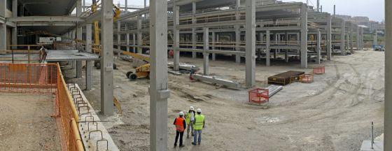 Obras de ampliación de la sede central de Inditex