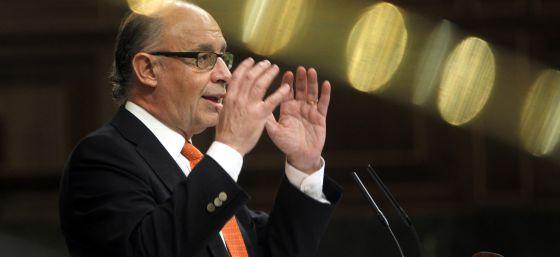 El ministro de Hacienda, Cristóbal Montoro, durante una intervención en el Congreso.