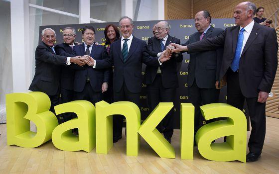 Foto de familia de los consejeros de Bankia.