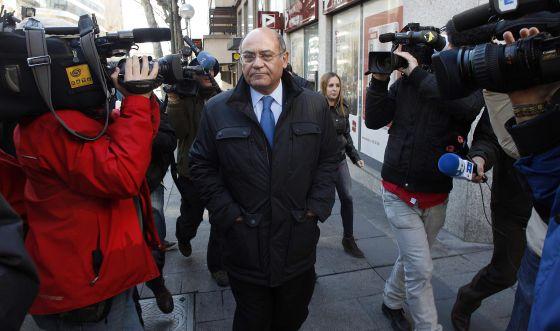 Díaz Ferrán, tras declarar en la Audiencia en marzo.