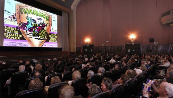 Aspecto de la sala del cine Callao, en el centro de Madrid
