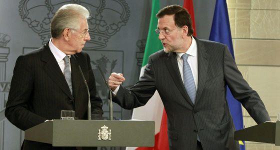Rajoy y Monti, el jueves en La Moncloa.