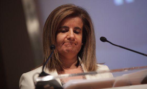 La ministra de Empleo, Fátima Báñez, en julio en Madrid.