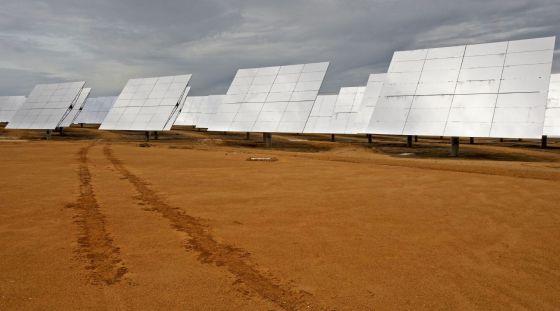 Vista de una planta solar en España.