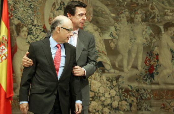 Cristóbal Montoro y José Manuel Soria.