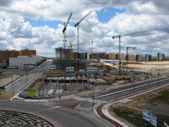 Obras de construcción del Nuevo Tres Cantos.