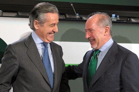 Miguel Blesa y Rodrigo Rato, expresidentes de Caja Madrid
