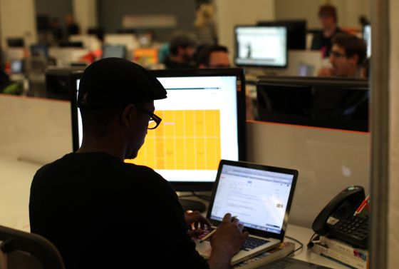 Un emprendedor trabajando en el Silicon Valley.