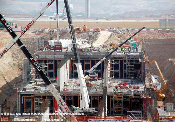 Obras del túnel de servicios del aeropuerto de Barajas de Essentium.