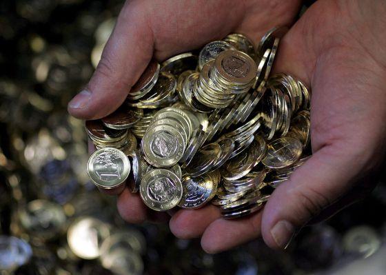 Monedas de un euro.