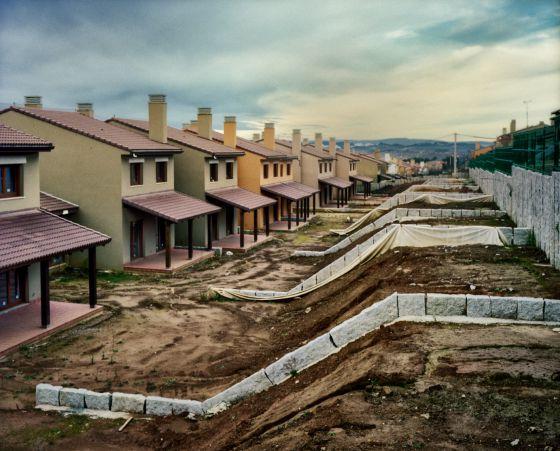 Urbanización en Miño (A Coruña) cuya construcción está paralizada.