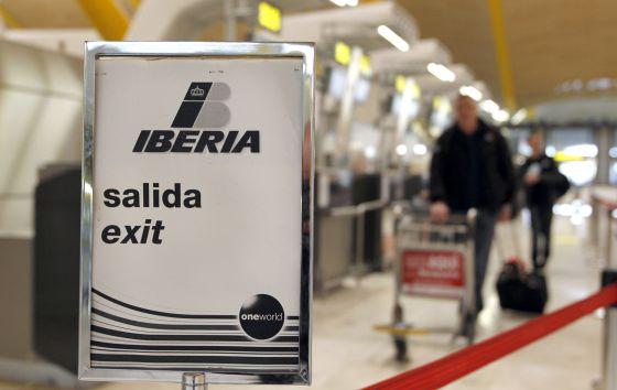 Ambiente de Iberia en el aeropuerto de Madrid-Barajas.