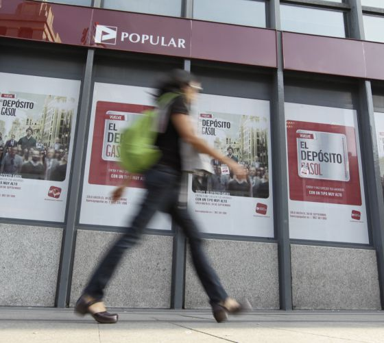 Una oficina del Banco Popular en Madrid.