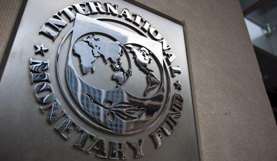 Símbolo del FMI en su edificio en Chicago.